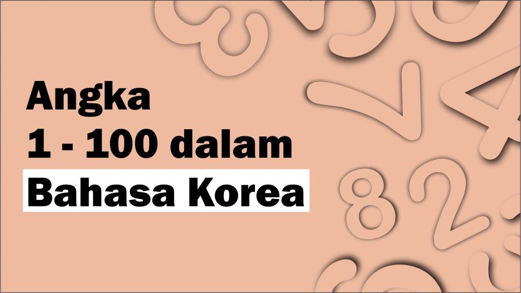angka dalam bahasa korea